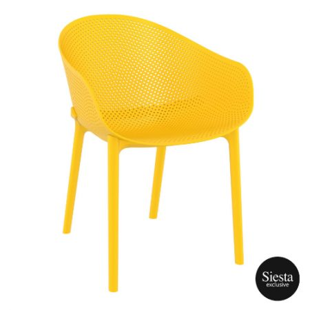 outdoor-seating-polypropylene-siesta-chair-yellow Specfurn Commercial Furniture
